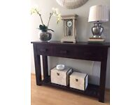 Set of 2 Beautiful Solid Wood Mangat Console Tables