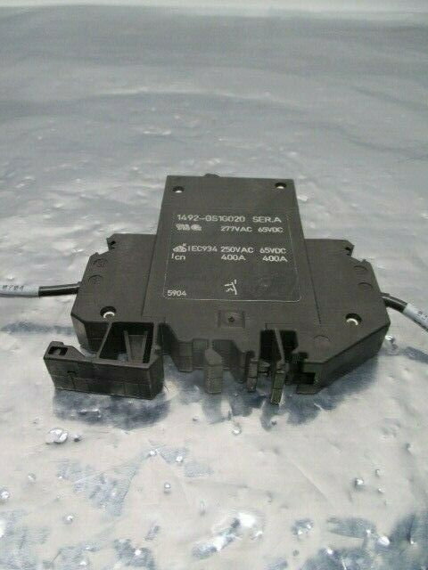 Allen-Bradley 1492-GS1G020 Circuit Breaker, 2A, 1 Pole, 277VAC, 65VDC, 100566