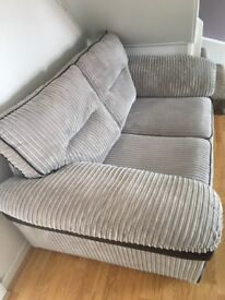 Soft grey/silver cord 2 & 3 seater sofas
