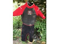 Billabong 2X2 Red/Black Shortie Wetsuit - Fit Size 8 Excellent Condition As Barely Used