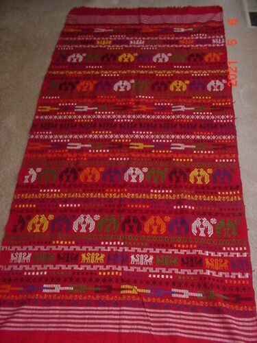 BEAUTIFUL VINTAGE GUATAMALA ETHNIC TEXTILE CLOTH 72 BY 34 INCH