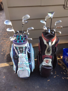 Men's and Ladies Dunlop golf clubs sets