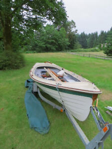 17' Customized Gig Harbor Boat Works Jersey Skiff with trailer