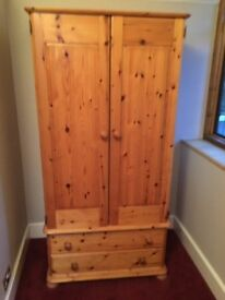 LARGE SOLID PINE WARDROBE, BARGAIN