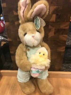 "Bearington Bear Collection Petey and Peeps  14/"" Bunny #420336"