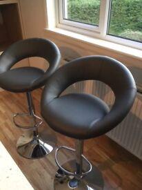 2 x Superb brand new grey bar stools,