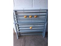 Single Modern Grey/Silver Metal Base Bed