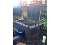 Large wooden trellis allotment garden
