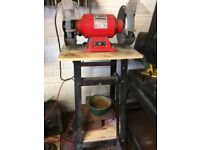 "Sealey 8"" bench grinder + floor stand + spare wheel"