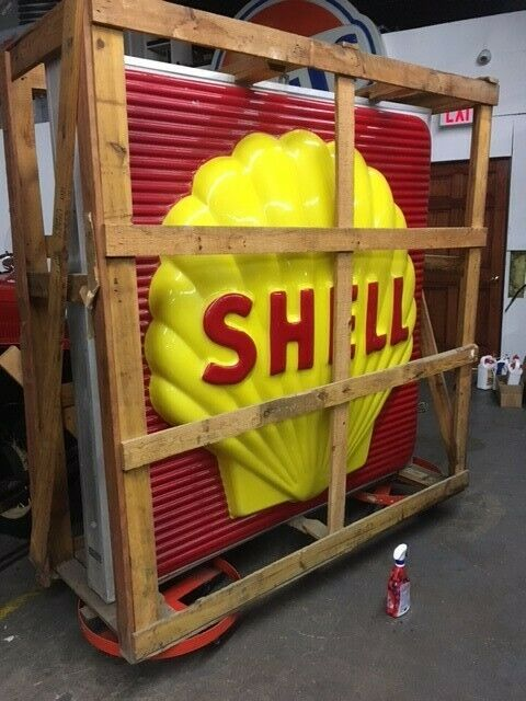 SHELL GAS  SIGN 6 FOOT IN ORIGNAL CRATE