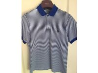 Fred Perry Youth Striped Polo, Size M (aged 10-12) - Excellent Condition - cost £40