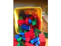 Box full of Mixed Duplo bricks. Good Condition...