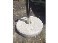 Parasol base - grey granite