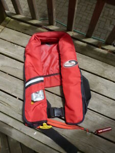 Nautilus inflatable life jacket PFD requires new cartridge
