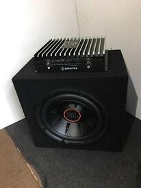 """JBL 10"""" INCH subwoofer with BassFace amp brand new"""