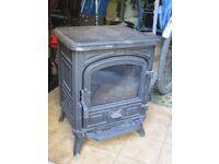 Second hand Franco Belge Belfort cast iron stove.