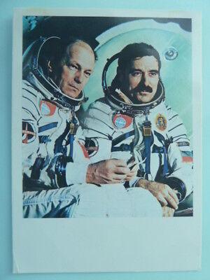 Georgi Iwanow & Nikolai Rukawischnikow (RUS), Kosmonaut - Karte (unsigniert)