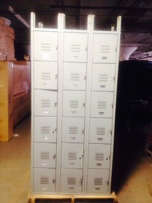 Metal Lockers 12 Box Doors Lot Commercial Used Store Fixtures School Employee
