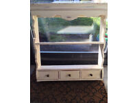 Shabby Chic Vintage Rustic Decorative Wall Shelving Unit - ideal for kitchen
