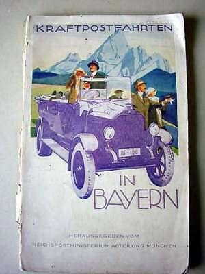 Kraftpostfahrten in Bayern, um 1910