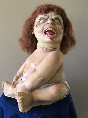 Vintage Exorcist Full Sized Baby Motion Activated Halloween Prop