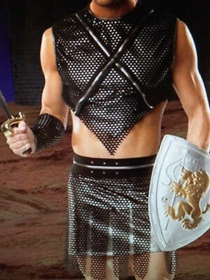 MENs Sexy GLADIATOR WARRIOR FIGHTER Fancy Dress Costume (Men's Gladiator Kostüme)