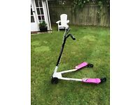 Girls large pink flicker scooter