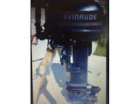 Evinrude/Johnson 25hp Long Shaft 2 Stroke Outboard Boat Engine Motor