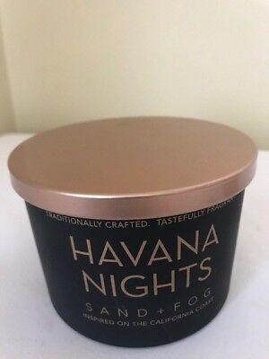 SAND + FOG Havana Nights 2 wick Scented Candle 12oz