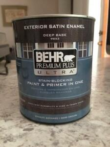 Behr paint - exterior paint and primer in 1 - NEW!!
