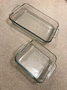 2 Piece Clear Pyrex Set