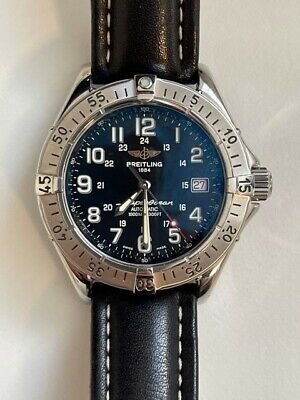 Breitling Superocean Watch, a17340, Blue / Black Face 42mm Automatic