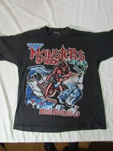 Vintage Monsters of Rock Metal Madness 1988 Concert T-Shirt S/M  See Description