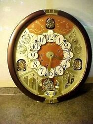 Retired Seiko 24 Melodies in Motion Musical Wall Clock With Swarovski Element
