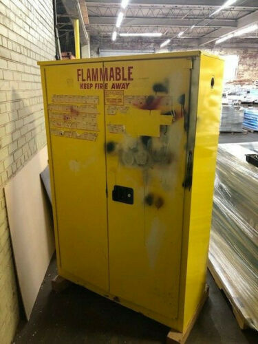 Se-Cur-All Model P260 Sixty Gallon Safety Storage Cabinet In Fair Condition