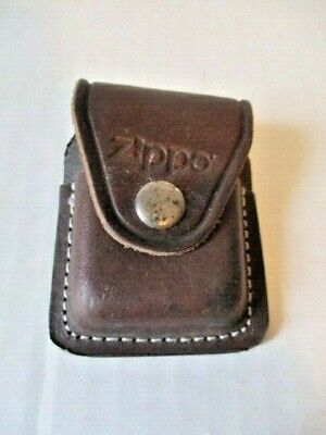 Vintage Zippo Lighter Pouch Case Brown Leather