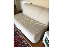 Double Ikea sofabed with cover