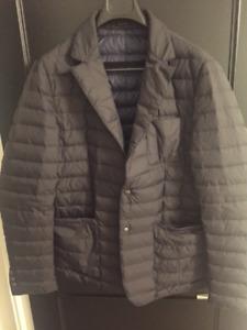 Mens Navy Massimo Dutti Puffer Down Jacket Blazer Lightly Worn