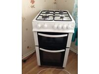 LOGIK Phoenix gas cooker with electric grill and oven. 18 mths old. perfect working order.