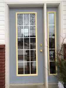 Exterior Residential Metal Clad door and sidelight assembly