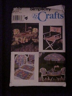 1996 Simplicity Crafts Deck & Patio Accessories Pattern 7159 UNCUT ()