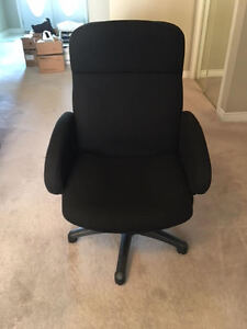 Black fabric chair