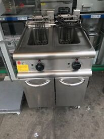 ELECTRIC 2 SEPARATE TANK CHIPS FRYER 3 PHASE COMMERCIAL CATERING KITCHEN EQUIPMENT RESTAURANT