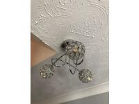 Used Mantus Chrome Effect 3 Lamp Ceiling Light