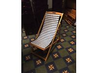 4 x wooden frame deck chairs for sale - Must go today £15
