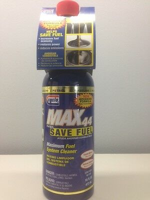 *NEW* Cyclo Max 44 Maximum Total Fuel System Cleaner C44 16oz  Bottle FREE SHIP