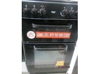 *+BUSH BLACK DOUBLE OVEN/*FreeLOCAL Delivery*50 CMS WIDE SOLID TOP ELECTRIC COOKER/FULLY SERVICE/ CL
