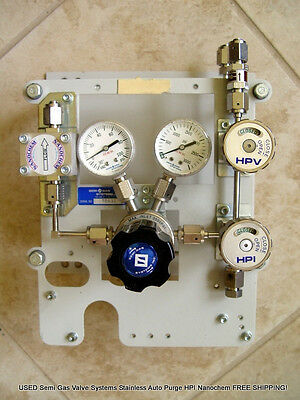 USED Semi Gas Systems Stainless Auto Purge HPI Nanochem Valves FREE SHIPPING!