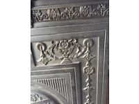 Metal fireplace nice decorative piece as new