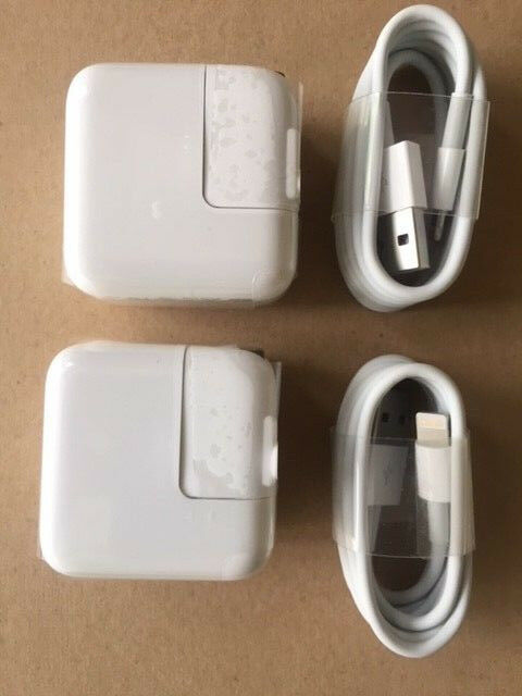 TWO SETs - 12 Watt 2.4 AMP Wall Charger for iPad USB and 8 p